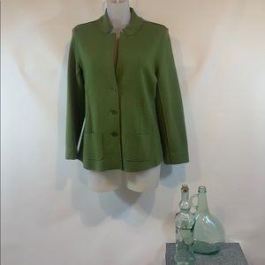 Eileen Fisher Green Merino Wool Jacket